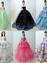 Princess Lolita / Elegant / Ball Gown Dresses 6 pcs For Barbiedoll Organza Doll Clothes For Girl\'s Doll Toy