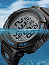 SKMEI Heren Sporthorloge Militair horloge Digitaal Gewatteerd PU-leer Zwart / Groen 50 m Waterbestendig Kalender Chronograaf Digitaal Luxe Informeel - Rood Groen Blauw / Stopwatch