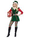 Christmas Dress Santa Clothes Adults\' Men\'s Christmas Christmas New Year Festival / Holiday Lycra Elastane Green Carnival Costumes Christmas