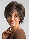 Парики из искусственных волос Естественный прямой Стиль Стрижка боб Без шапочки-основы Парик Коричневый Бежевый Искусственные волосы 10 дюймовый Жен. / Природные волосы / Природные волосы