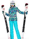 High Experience Femme Veste et Pantalons de Ski Chaud Coupe Vent Etanche Ski Snowboard Sports d\'hiver Polyester Ensemble de Vetements Tenue de Ski / Hiver