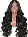 Virgin kosa Netretirana  ljudske kose Lace Front Perika Stepenasta frizura stil Brazilska kosa Tijelo Wave Crna Perika 150% Gustoća kose s dječjom kosom Prirodna linija za kosu Za crnkinje
