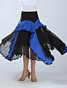 Ballroom Dance Bottoms Women\'s Training / Performance Polyester Ruching High Skirts