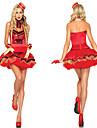 برودواي أعظم شوهم ملابس نسائي Film Cosplay أحمر فستان قفازات أغطية الرأس Halloween مهرجان حفلة تنكرية Elastane بوليستر
