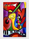 Hang-ζωγραφισμένα ελαιογραφία Ζωγραφισμένα στο χέρι - Αφηρημένο Μοντέρνα Περιλαμβάνει εσωτερικό πλαίσιο / Επενδυμένο καμβά