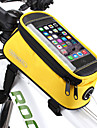 ROSWHEEL Cell Phone Bag / Bike Frame Bag 5.5 inch Touch Screen, Waterproof Cycling for Samsung Galaxy S6 / LG G3 / Samsung Galaxy S4 Blue / Black / iPhone 8/7/6S/6 / Waterproof Zipper