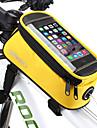 ROSWHEEL 1.3 L Sac de telephone portable Sac de cadre de velo Resistant a l\'humidite Zip etanche Vestimentaire Sac de Velo PVC Terylene Maille Sac de Cyclisme Sacoche de Velo iPhone X / iPhone XR
