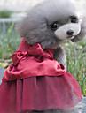 Chiens Robe Vetements pour Chien Cristal / Stras Rouge Rose Kaki Melange Poly / Coton Costume Pour Printemps & Automne Ete Femme Style Mignon Soiree