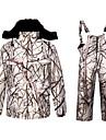 Herre Dame camouflage Jagtjakke m. bukser Udendørs Fleecefoer Hold Varm Anti-Slid Tøjsæt Vinter Bomuld 100% Polyester Jagt, Fiskeri, Camping / Vandring / Grotte Udforskning
