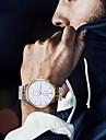 Hombre Reloj de Vestir Cuarzo Acero Inoxidable Plata / Dorado 30 m Resistente al Agua Nuevo diseno Reloj Casual Analogico Clasico Moda - Dorado Blanco Negro