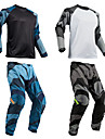 Per uomo Manica lunga Pantaloni da ciclismo Downhill Jersey - Grigio Royal Blue Camouflage Bicicletta Completo tuta Traspirante Gli sport Camouflage Ciclismo da montagna Abbigliamento