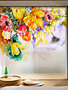 Glasfolie en stickers Decoratie Hedendaagse / 3D Bloem PVC Raamsticker / 防反光