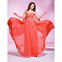 Sheath / Column Sweetheart Floor Length Georgette Prom / Formal Evening Dress with Beading Pleats by TS Couture®