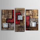 Håndmalte Abstrakt enhver form, Klassisk Tradisjonell Hang malte oljemaleri Hjem Dekor Tre Paneler