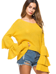 Ruffled Sweaters