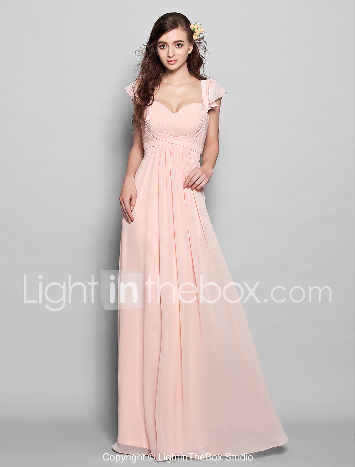 A line sweetheart floor length chiffon bridesmaid dress with photo by lightinthebox ombrellifo Image collections