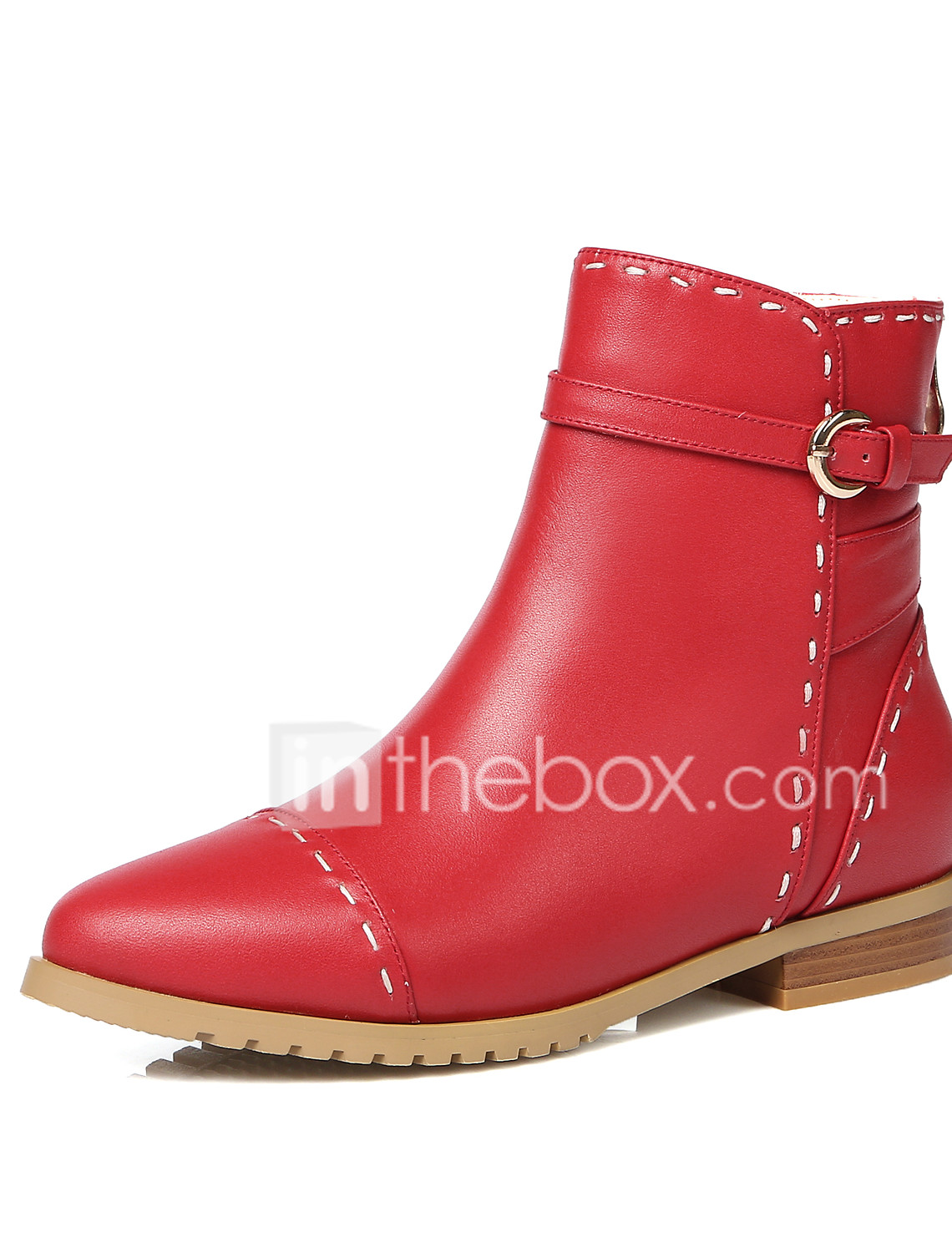 682b2773dcfc Women s Shoes Cowhide Fall Winter Boots Hiking Shoes Low Heel Pointed Toe  Booties Ankle Boots Buckle Zipper for Black Beige Red  05963935
