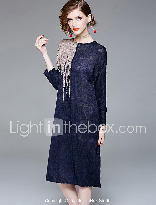 aaf6dfdf85 Mujer Boho   Sofisticado Corte Ancho Pantalones - Un Color Retazos Azul  Piscina   Trabajo. Foto de Proveedor